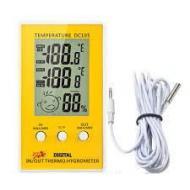Электронный детский термометр - гигрометр, часы DC 105