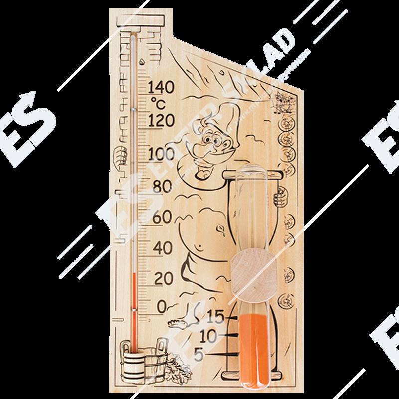 «Банная станция» Термометр для сауны и бани с песочными часами