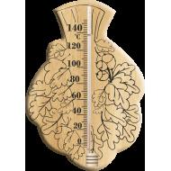 Термометр «Веник» для сауны и бани из дерева ИСП-6