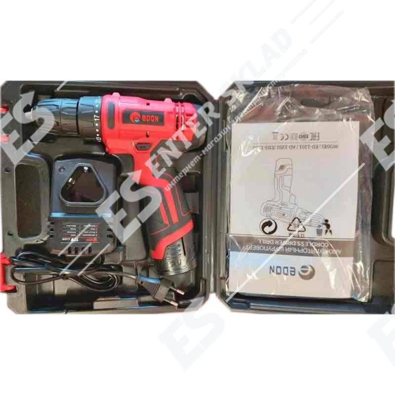 Аккумуляторный шуруповерт Edon AD-1201