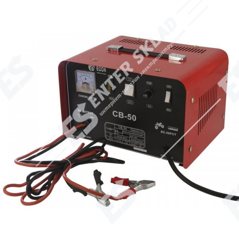 Зарядное устройство Edon CB-50, 900 Вт, напряжение зарядки 12/24 В