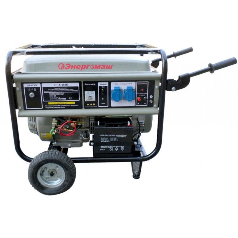 Бензогенератор (генератор бензиновый) 5,5 кВт ЭГ-87255 Е Энергомаш