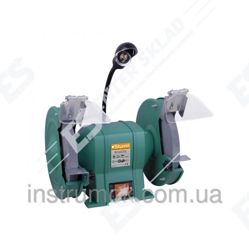 Заточной точильный станок 200 мм,400 Вт (с подсветкой) Sturm BG 6020 L