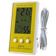 Электронный Термометр с выносным датчиком.  Внешняя температура. DC 107