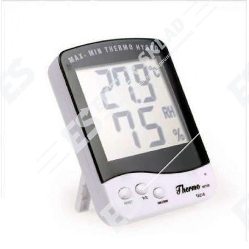 Цифровой термометр гигрометр для инкубатора с выносным датчиком TA-218 A
