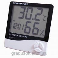 Цифровой термометр гигрометр HTC - 1