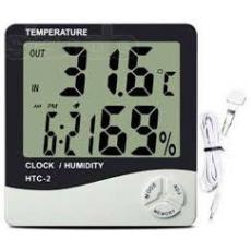 Электронный термометр гигрометр с выносным датчиком HTC - 2
